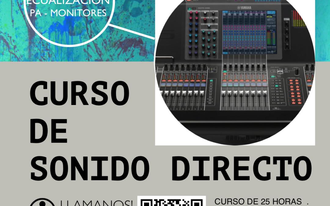 CURSO DE SONIDO DIRECTO – 18 AL 22 DE ABRIL