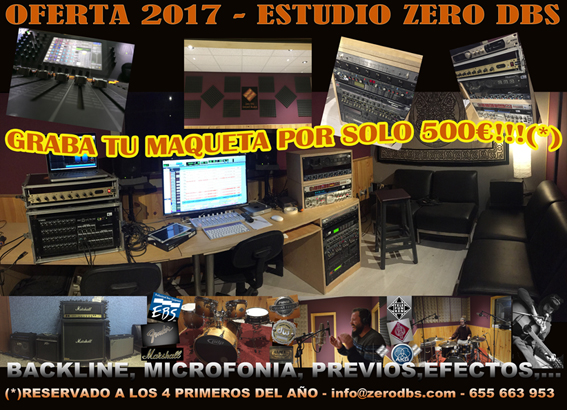 OFERTA 2017- ESTUDIO DE GRABACION ZERO DBS