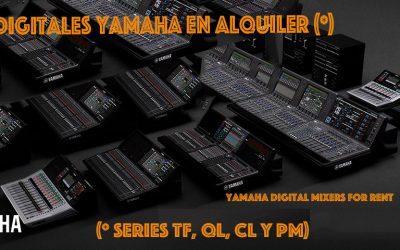 MESAS DIGITALES YAMAHA DISPONIBLES EN ZERO DBS PARA ALQUILER!!!
